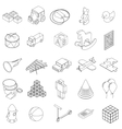 Children toys icons set isometric 3d style vector image