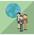 Graphic of businesspeople vector image