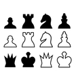 Chess pieces symbols vector image