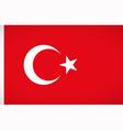 National flag of Turkey vector image