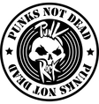 Punk Rock Logo vector image