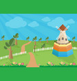 rural landscape with windmill vector image