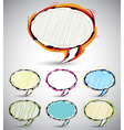 Sketch style speech bubbles 2 vector image