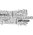 Why i want to demolish bellagio hotel text word vector image