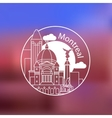 Montral one line design on blurred background vector image
