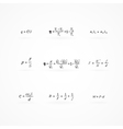 background with equations and formulas vector image vector image