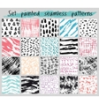 painted seamless pattern set vector image