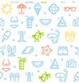 summer travel recreation holiday pattern vector image