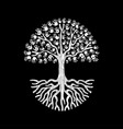 hand tree in black and white for community help vector image