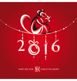 Chinese new year greeting card with monkey vector image