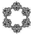 Antique ottoman turkish pattern design vector image