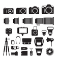 Camera Photography Mono Icons Set vector image