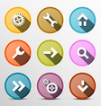 Colorful Web Icons Set in Circles vector image