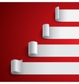 Curled blank white paper stripe banners chart on vector image