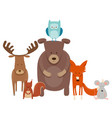 cute cartoon animal characters group vector image