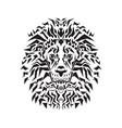 line art of lion head vector image