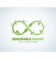 Renewable Energy Abstract Logo Template vector image