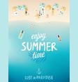 tropical beach poster enjoy summer vector image