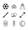 white background with monochrome set of sports vector image