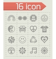 Hippie icon set vector image
