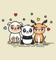 cute and lovely animals cartoon vector image