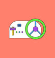flat icon design collection steering wheel and vector image vector image