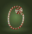 Candy cane abc 0 vector