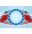 fourth of july emblem vector image