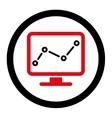 Monitoring icon vector image