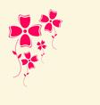 Flowers Retro Flat Design Background vector image vector image