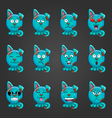 Set cute cartoon dog with different emotions vector image