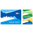abstract town and city ad background your text vector image