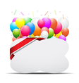 Balloons decoration vector image