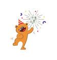 cute bear dancing vector image