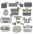 Eco bio organic natural vector image
