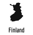 finland map in black simple vector image