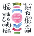 Hand drawn decoration collection with watercolor vector image
