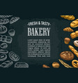 horizontal posters with bread on the dark vector image