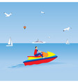 Man on a jet ski Water sports Summer vacation vector image