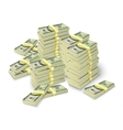 Money stacks banknotes pile concept vector image