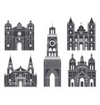 south america isolated american buildings on vector image
