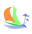 Symbolic image of a sailboat the Islands vector image
