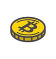 yellow bitcoin coin vector image