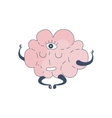 Brain In Lotus Pose With Third Eye Comic Character vector image