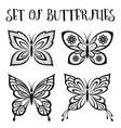 set butterflies black pictograms vector image vector image