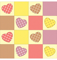 Romantic patchwork vector image
