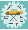 Car repair service icons vector image vector image