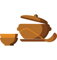 hot meals vector image vector image