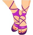 female sandals vector image