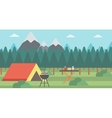 Background of camping site vector image vector image